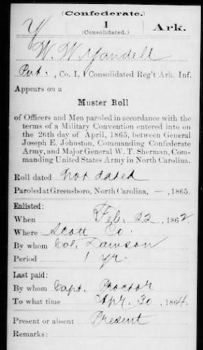 Wilson Yandell 1865 Discharge (Source: