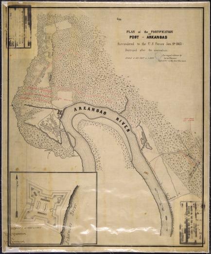 Fort Hindman at Arkansas Post. Source: NARA